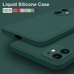Case For iPhone 13 Pro Max 12 11 8 XS XR Liquid Silicone Shockproof Rubber Cover $5.99