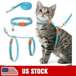Cat Harness with Leash Collar Set Escape Proof and Adjustable for Walking $9.62