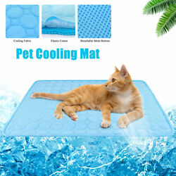 Dog Cooling Mat Summer Pad Mat Small Pet Cat Blanket for Sofa Bed Floor Washable $9.39