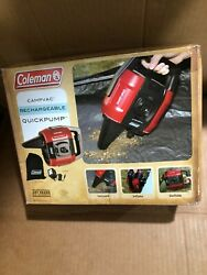 Coleman Rechargeable QuickPump Air Pump 2000012491 w 120V Charger New FREE SHIP $40.75