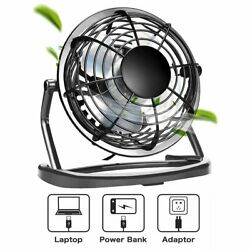 Mini USB Desk Fan 4inch Strong Wind Small Quiet Portable Table Personal Cooler $10.19