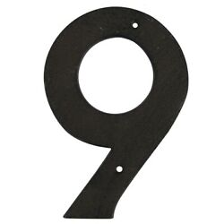 6quot; Rustic Brown Cast Iron Metal House Number 9 Home Street Address Phone Numbers