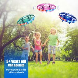 LED UFO Hand Operated Drones Kids Mini Drone Toys Flying Ball Drone Toy Gift US $17.99