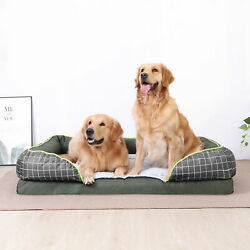 Anti Bite Solid Orthopedic Dog Bed Extra Large Waterproof Bolster L Dog Sofa Bed $59.92