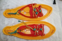 VTG. YAKIMA OUTTA BOUNDZ BIG STOMPERS SNOW WALKERS SNOWSHOES KIDS YELLOW $20.00