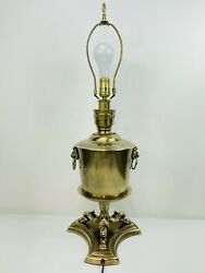 Frederick Cooper Lamp Brass Lion Knocker Lion Footed Urn Style Table Lamp $150.00