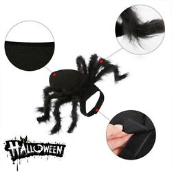 Halloween Pet Cats Dogs Pretend Black S M Spider Clothes Festival Party Costume $11.55