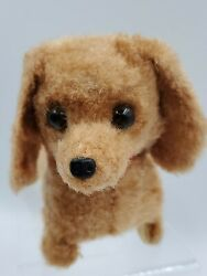 Vintage Dachshund Dog Battery Operated Walking Barking Tail Wagging toy $17.52