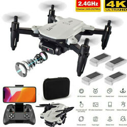 RC Drone 4K HD Wide Angle Camera WIFI FPV Drone with Camera Quadcopter Battery $34.59