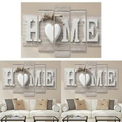Fashion Concise Wall Paintings 5Pcs Home Letter Printed Photo Wedding Art Decor $18.88