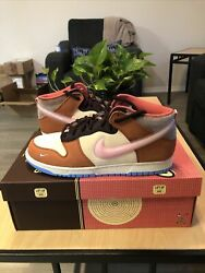 Social Status Nike Free Lunch Dunk Chocolate Milk Size 11 Mens IN PERSON $350.00