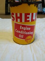 Shell Engine Conditioning Oil Vintage Can $60.00