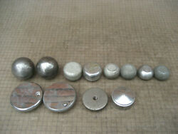 Lot Of 12 VTG Handles Knobs Round Tip 1quot; to 1 13 16quot; 1 2 20 TPI old parts 449B $20.00