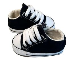 Converse Baby Crib Shoes Size 1 Baby Booties First Star Boys Shoes Black $12.74