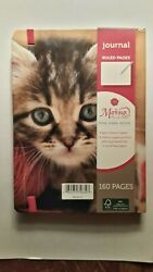 HARD COVERED CAT JOURNAL w 160 ruled pages amp; SATIN RIBBON MARKER $9.99