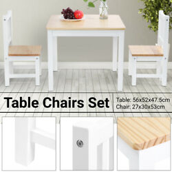 3 Piece Dining Table Set W 2 Chairs Wooden Kitchen Breakfast Bar Room Furniture $79.99