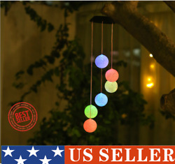 Hanging Globe Solar Lights Outdoor Pendant Lamp for Patios Porches and Yards $12.99