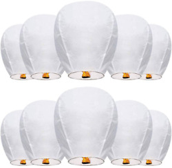 10 Pack Wishing Lanterns 35.4″ Refined Floating Lanterns Made of Fire Resista... $29.75