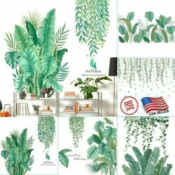 Nordic Green Plants Backdrop Bedroom Wall Stickers Self Adhesive Large Creative $6.99