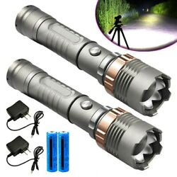 High Powered 990000LM LED Flashlight Super Bright Military Rechargeable Torch T6 $10.98