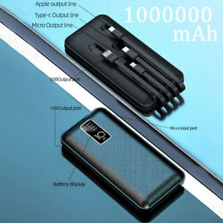 1000000mAh Backup External Battery USB Power Bank Pack Charger for Cell Phone $14.59