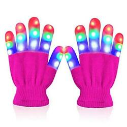 LED Flashing Gloves Novelty for Kids Toys Gifts for 3 4 5 6 7 8 9 10 A pink $17.74