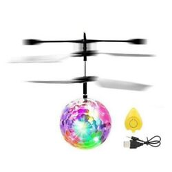 Ball Flying Rc Toy Led Induction Toys Helicopter Kids Infrared Aircraft Drone $12.10