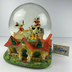 Disney Mickey Mouse Sleeping Dreaming Snow Globe When You Wish Upon A Star Large $117.03