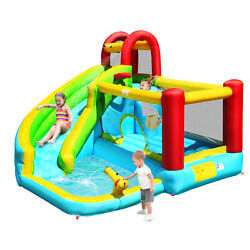 Inflatable Kids Water Slide Jumper Bounce House Splash Water Pool Without Blower $246.49