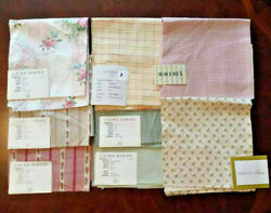 8 Laura Ashley Waverly Fabric Samples Pink Green Floral 17 x 17quot; 15.5 x 17quot; $15.99
