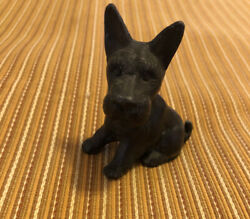 """Vintage Cast Iron SCOTTY DOG 2 1 2"""" tall and 2"""" long $13.99"""