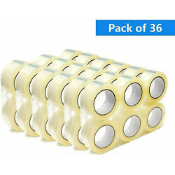 36 ROLLS Clear Packing Tape 2 INCH x 110 Yards 300 ft Carton Sealing Package $44.99
