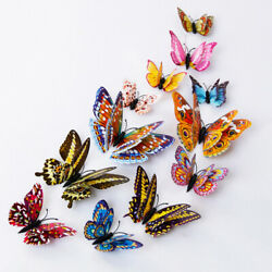 12Pcs 3D Butterfly Wall Decals Decor Removable Stickers Home Decoration C $3.31