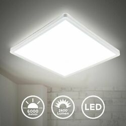 Ultra Thin Square LED Ceiling Light Bright Down Panel Wall Kitchen Bathroom Lamp $18.55