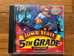 JUMP START Adventures 5th Grade DELUXE 2 disc educational game PC MAC CD ROM $8.69