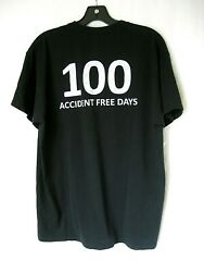Lamps Plus Black Work Tee Shirt 100 Days Accident Free Guys L $17.00