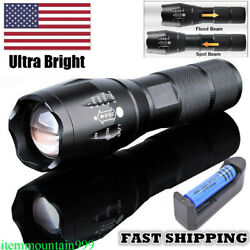 High Powered 900000lm Tactical LED Flashlight Super Bright Torch Rechargeable T6 $7.78