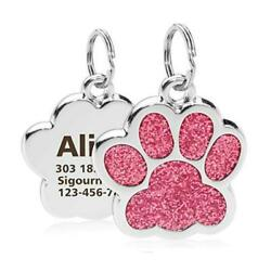 Personalized Dog Cat Tags Engraved Cat Dog Puppy Pet ID Name Collar Tag Pendant $3.19