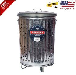 Steel Burning Container Can Garbage Rubbish Compost Barrel Identity Theft Lid $69.49
