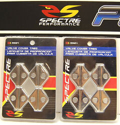 **Lot of 2** SPECTRE 5324 CHROME VALVE COVER SMALL MINI HOLD DOWN TAB 2 Packs $10.87