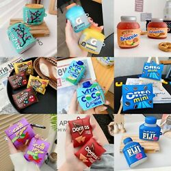 Beverage Snack 3D Cartoon Cute Silicone Protective Case for Airpods 1 2 3 Pro $8.50