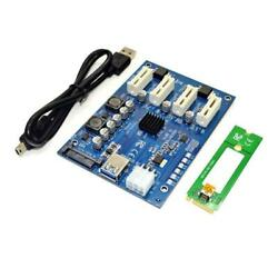1 To 4 PCI Express Slot 1x to 16x USB3.0 Mining Special Riser Card PCIe Extender $32.71