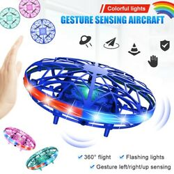 LED Hand Operated Drones Kids Mini Drone Toys UFO Flying Ball Drone Toy Boy Gift $16.99