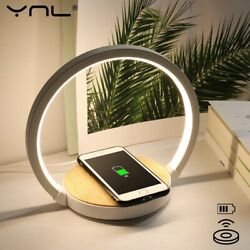 Wireless Charging Touch Control Desk Led Table Bedside Study Lights Reading Lamp $42.88