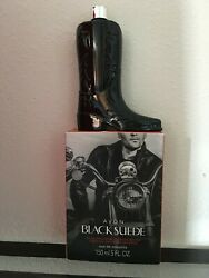 Avon BLACK SUEDE Boot Decanter Limited Edition collectible boot NEW. SEALED $20.00