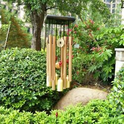 Large Wind Chimes Copper Bells Garden Outdoor Stained Hanging Metal Windchime $14.55