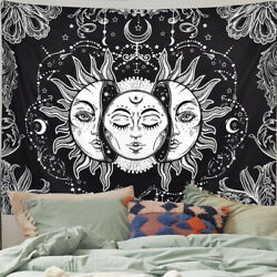 Sun and Moon Tapestry Wall Art Bohemian Tapestries Wall Hanging For Bedroom Dorm $14.99