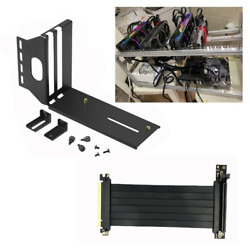 Vertical GPU Mount Graphic Card Holder with PCI E 3.0 X16 Extension Cable NEW $19.99