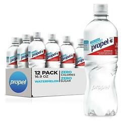 Propel Watermelon Zero Calorie Sports Drinking Water with Electrolytes 12Count $8.49