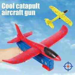 Toy Gun Catapult Foam Plane Airplane Ejection One Click Bubble Launcher Shooting $11.31